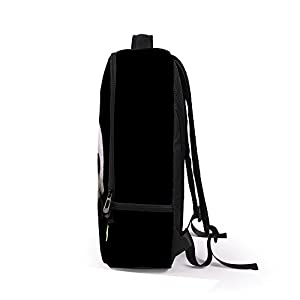 School Bag,Han Shi Women Men 3D Galaxy Travel Satchel Stylish Unisex Canvas Book Bag Shoulder Schoolbags (J, Large)