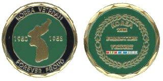 Korean Veteran 'Forever Proud' Challenge Coin