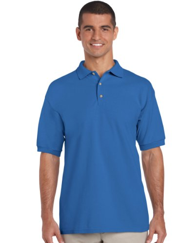 Gildan 3800 Ultra Cotton Erwachsene Combed Ringspun Pique Polo Shirt Royal L
