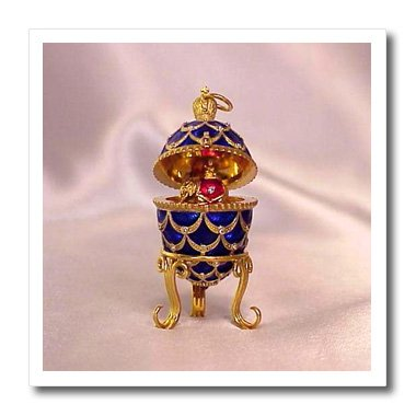 - 3dRose ht_3148_1 Picturing Pinecone Faberge Egg-Iron On Heat Transfer, 8 by 8