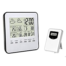 Digital Wireless Weather Station,indoor/outdoor Temperature,Humidity with sensor