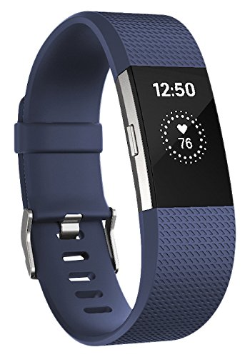 Fitbit Charge 2 Monitor de Actividad, Tamaño Grande, color azul