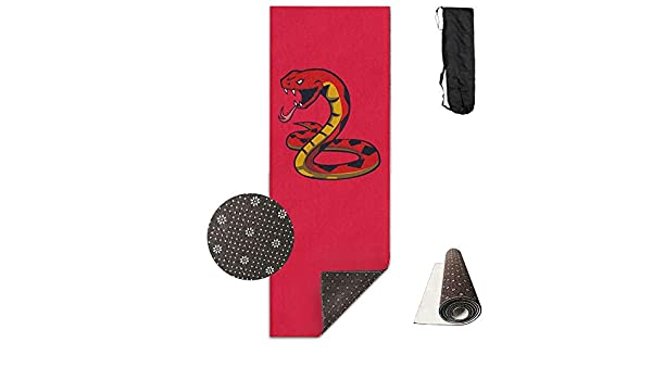 Amazon.com : Bghnifs Fire Snake -Red Printed Design Yoga Mat Extra Thick Exercise & Fitness Mat Fit Yoga, Pilates, Core Exercises, Floor Exercises, ...