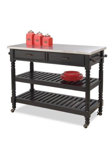Home Styles 5218-951 Savanna Kitchen Cart, Black Finish by Home Styles