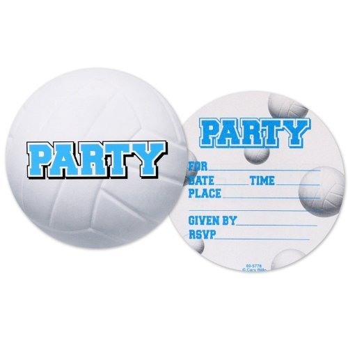 All-Star Volleyball Postcard Invitations (8 count) (Buyseasons Toy)