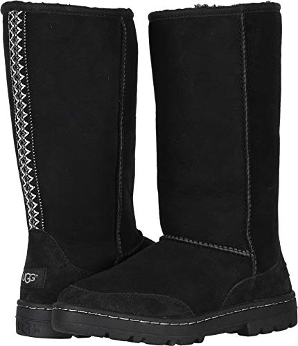 Ultra Sheepskin Boots - UGG Women's W Ultra Tall Revival Fashion Boot, Black, 6 M US