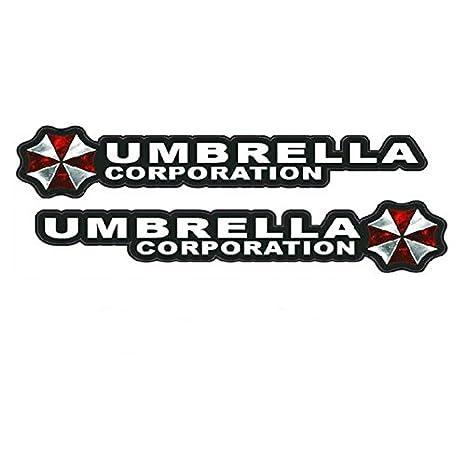 Par de Umbrella Resident Evil auto adhesivo pegatinas: Amazon.es: Deportes y aire libre