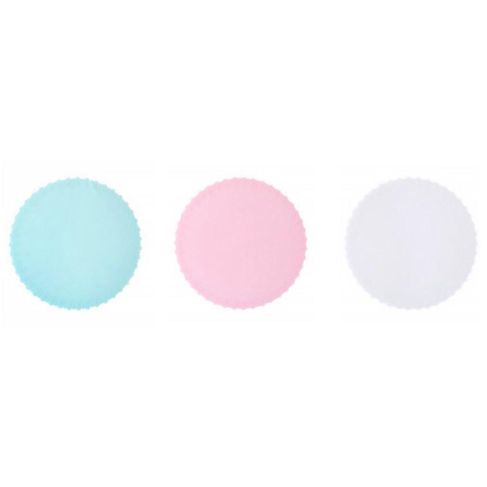 Naisicatar conservateur in silicone Films etirables in silicone alimentare sigillato di ciotola per preservare la freschezza di alimento Coperchi ermetici Utensile in cucina rosa + bianco + blu x 1
