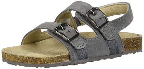 Stride Rite Leo Boy's Buckle Sandal, Dark Grey, 7.5 M US - Buckle Footwear