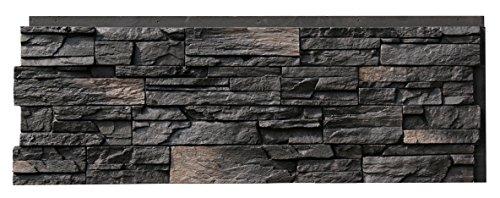 NextStone Country Ledgestone Faux Polyurethane Stone Panel  Andean Onyx  4 Pack