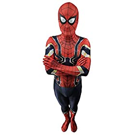 - 41P7inGHpXL - Jolly Costumes Lycra Spandex Zentai Unisex Halloween Cosplay Costumes 3D Style Audlt/Kids