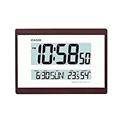 casio id-17-5 wall/tabletop clock thermometer and hygrometer easy to read digital display