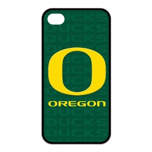 NCAA Oregon Ducks Logo for Iphone4/4s Best Rubber Cover Case-Creative New Life