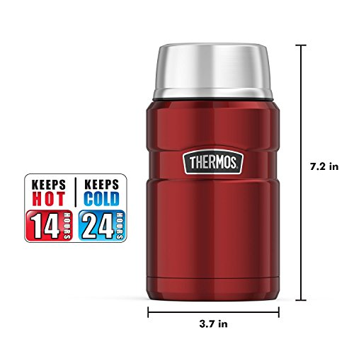 Thermos Stainless King 24 Ounce Food Jar, Cranberry