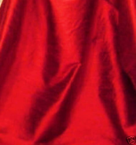 Ruby Red 100% dupioni silk fabric yardage By the Yard 45