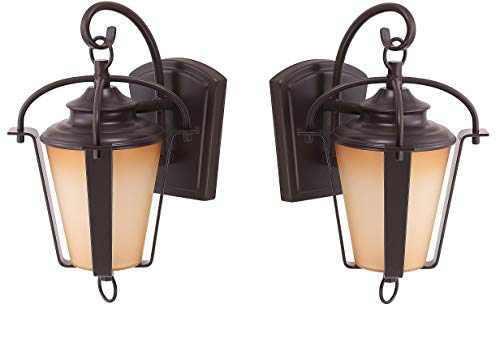 - LED Outdoor Lantern By Ciata Lighting -Wall Mounted Warm Light Fixture For Elegant Copper Bronze Finish -11.5