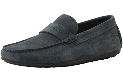Hugo By Hugo Boss Hombres Viajando Dandy Gamuza Mocasín Slip-on Loafer Open Grey