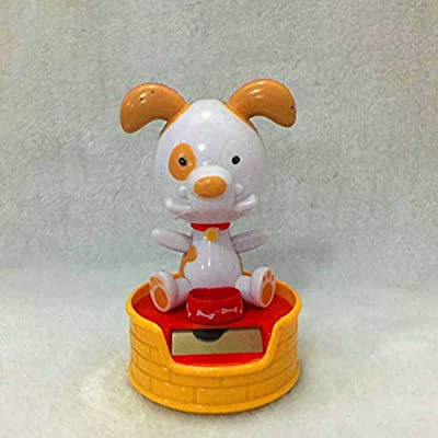 AKDSteel Halloween Shook His Head Doll Solar Powered Dancing Swinging Animated Toy Car Decor 11cm high Beer Dog -for auto: Automotive