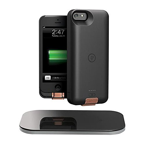Iphone 5 Snap - Duracell Powermat CSA5SW1  PowerSet II Kit for iPhone 5 with Access Case, Snap Battery and Powermat - White