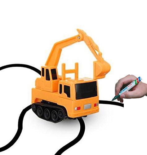 Magic Inductive Truck [Follows Black Line] Magic Toy Car for Kids & Children - Best MINI Magic Pen Inductive Fangle Kids Bus Tank Follow - 1 PC