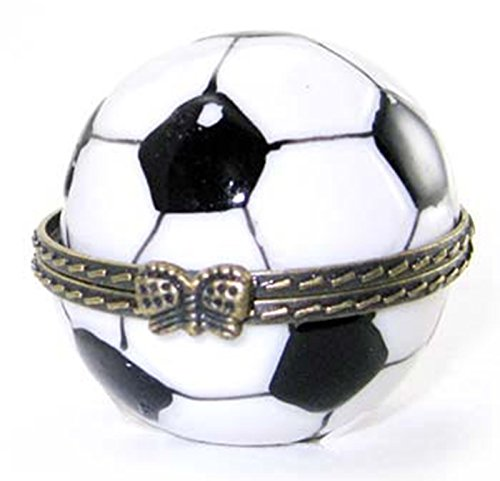World Cup Soccer Goal Ball Hinged Trinket Box phb