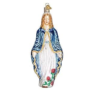 Old World Christmas Virgin Mary Glass Blown Ornament