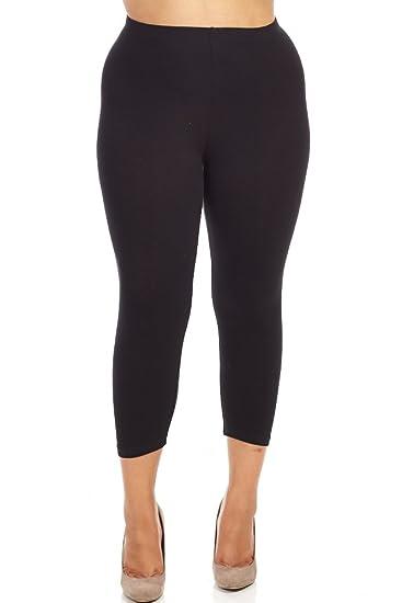 21587c808d2 Bozzolo Womens Ladies Plus Size Capri Leggings at Amazon Women s ...