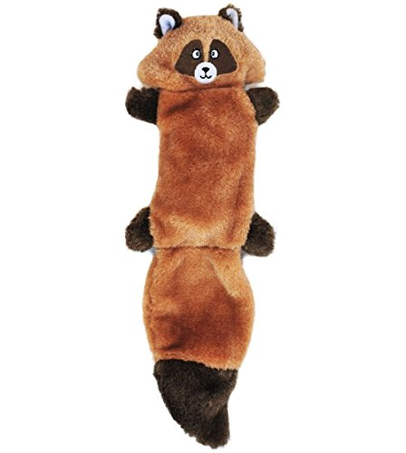 ZippyPaws-Zingy-3-Squeaker-No-Stuffing-Plush-Dog-Toy-Raccoon