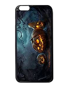 Art Halloween Night Pumpkins Moon Durable Unique Design Hard Back Case Cover For iPhone 6 Plus - 5.5 Kimberly Kurzendoerfer
