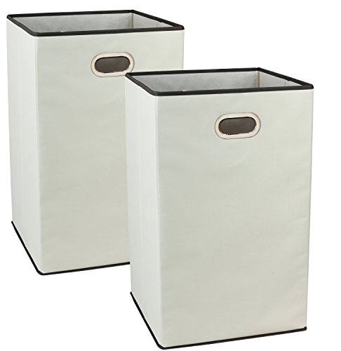 2Pack DecoBros Folding Laundry Clothes Hamper, 23-inch , Beige