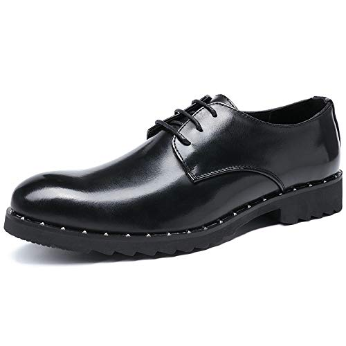 La Black Retro Bajo Cuero Hombre De Marrón Nueva Transpirable Resistente Antideslizante Boda Desgaste Koyi Inglaterra Zapatos Ayudar Para Con Color Al xwSfnAq6pq