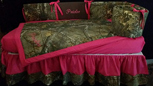 3-piece-Realtree-APExtra-Muddy-Girl-Pink-and-purple-camo-Snowfall-white-camo-Pink-camo-Camouflage-Crib-Baby-Bedding-set-Handmade-and-Custom-to-order-Embroidered-monogrammed-personalized