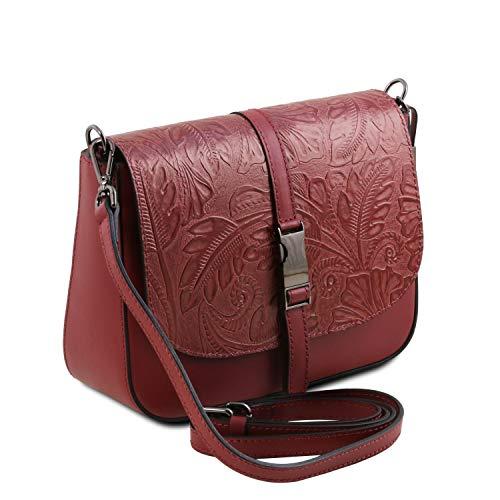 Nausica En Floral Tuscany Leather Piel Bolso Rojo Estampado FqWH7TaH