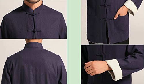 Cotton-flax Tang Suits Double-sided Wear Retro Jackets mens shirts Business Jackets Full Dress by Double-sided Wear Tang Suit (Image #7)