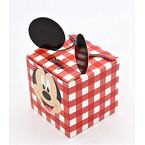 20 PIEZAS Topolino Disney Pinturas Rojo Caja bolsas para ...