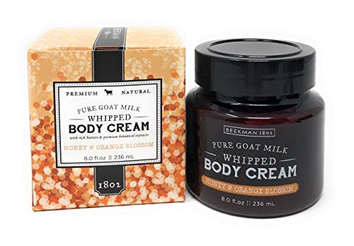 Beekman Honey & Orange Blossom Whipped Body Cream 8 oz. - Orange Blossom Hydrating Body Cream