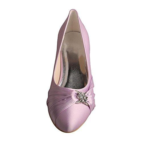 Wedopus ,  Damen Durchgängies Plateau Sandalen mit Keilabsatz Lavendel