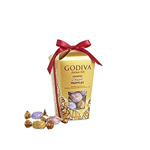 Godiva Chocolatier Wrapped Assorted Truffles Gift Box, 30 pieces
