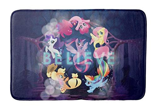 Bathroom Rug Mat (24X16 Inch),Extra Soft and Absorbent Rugs, Machine Wash/Dry,Floor Mats for Tub, Shower and Bath Room My Little Pony Mane six seaponies Believe Bath mat (Little Rugs Bathroom Pony My)