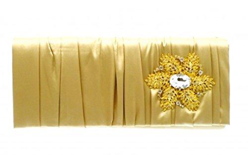 Gold Kristall Blume Damen Mode Brautschmuck Hochzeit Clutch Tasche