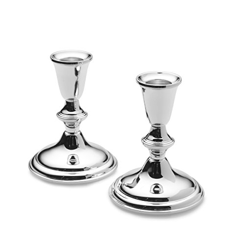 Empire Sterling Plain Border Candlestick Holder, 4-1/8-Inch