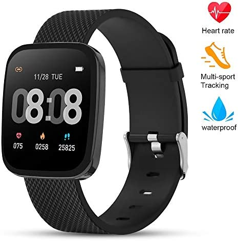 TEZER Smart Watch Fitness Tracker – Activity Tracker with Heart Rate Monitor, IP67 Waterproof Smart Bracelet with Sleep Monitor, Pedometer Smartwatch with Step Calorie Counter for Women Men