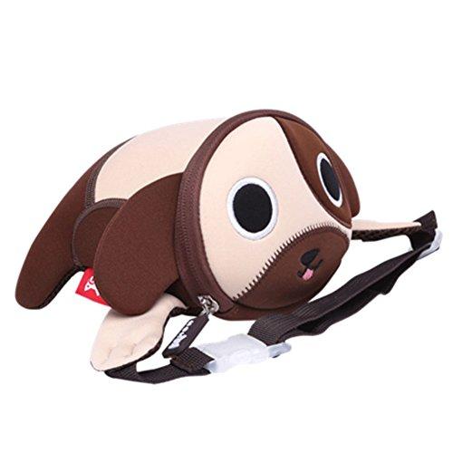 Puppy Love Backpack (Alnaue Kids Waist Pack Preschool Children 3D Animal Cute Puppy Waterproof Toddler Backpack)