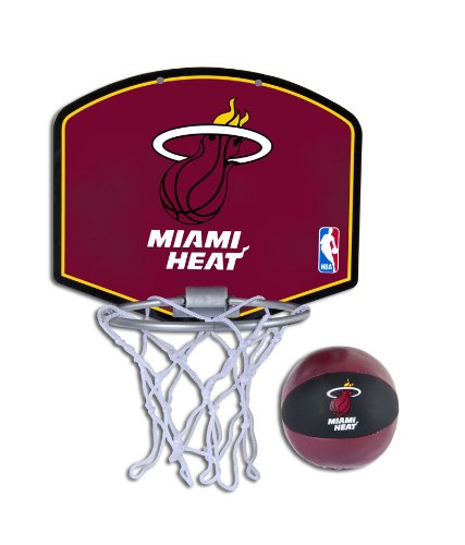 Spalding NBA Miami Heat Mini Hoop Set (Miami Basketball)