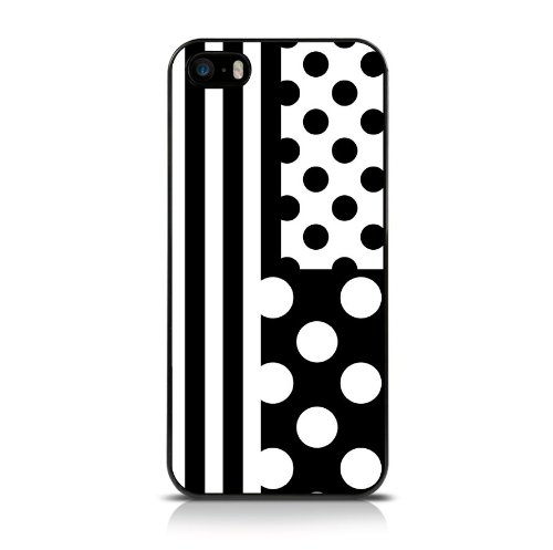 Call Candy géométrique Déco se/Series NO3 Fashion Coque pour Apple iPhone 5S/5/5 – Noir/Blanc