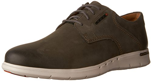 Clarks Mens Unbyner Lane Oxford Gray Nubuck Us 10 5 M