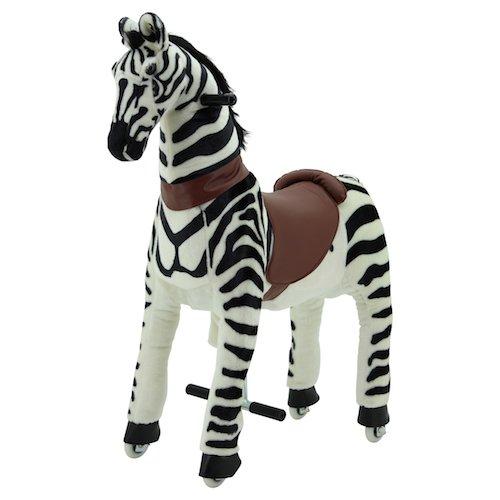 Sweety Toys 7240 Reittier Zebra auf Rollen für 4 bis 9 Jahre-RIDING ANIMAL