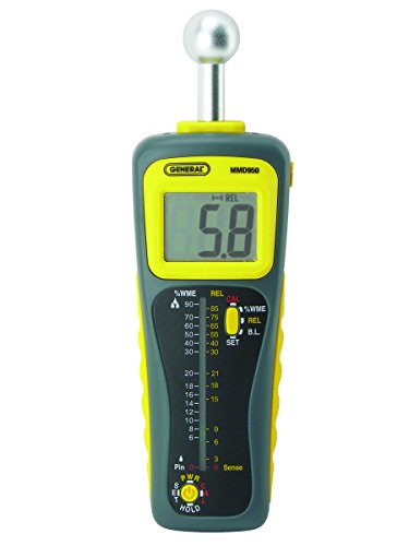 - General Tools MMD950 Moisture Meter, Pin Type or Pinless, Deep Sensing with Sensor and Remote Probe