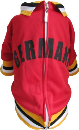 The Mutley Collection Germany Olympic Soccer Warm-Up Track Jacket for Dogs, XX-Large