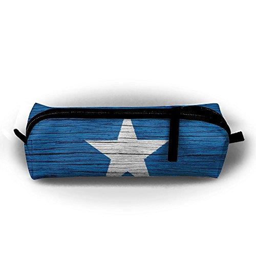 Gult Somalia Wooden Texture Somalian Flag Pencil Travel Makeup Jewelry Key Purse Coin Cash Bag Box Case Multi-function